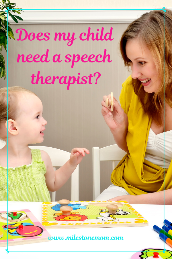 Does my child need a speech therapist_