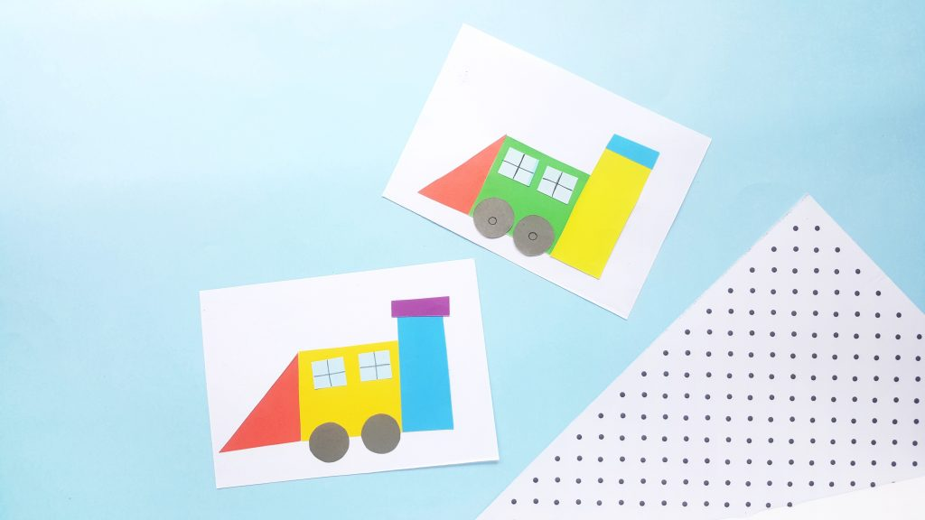 Shape Train Crafts