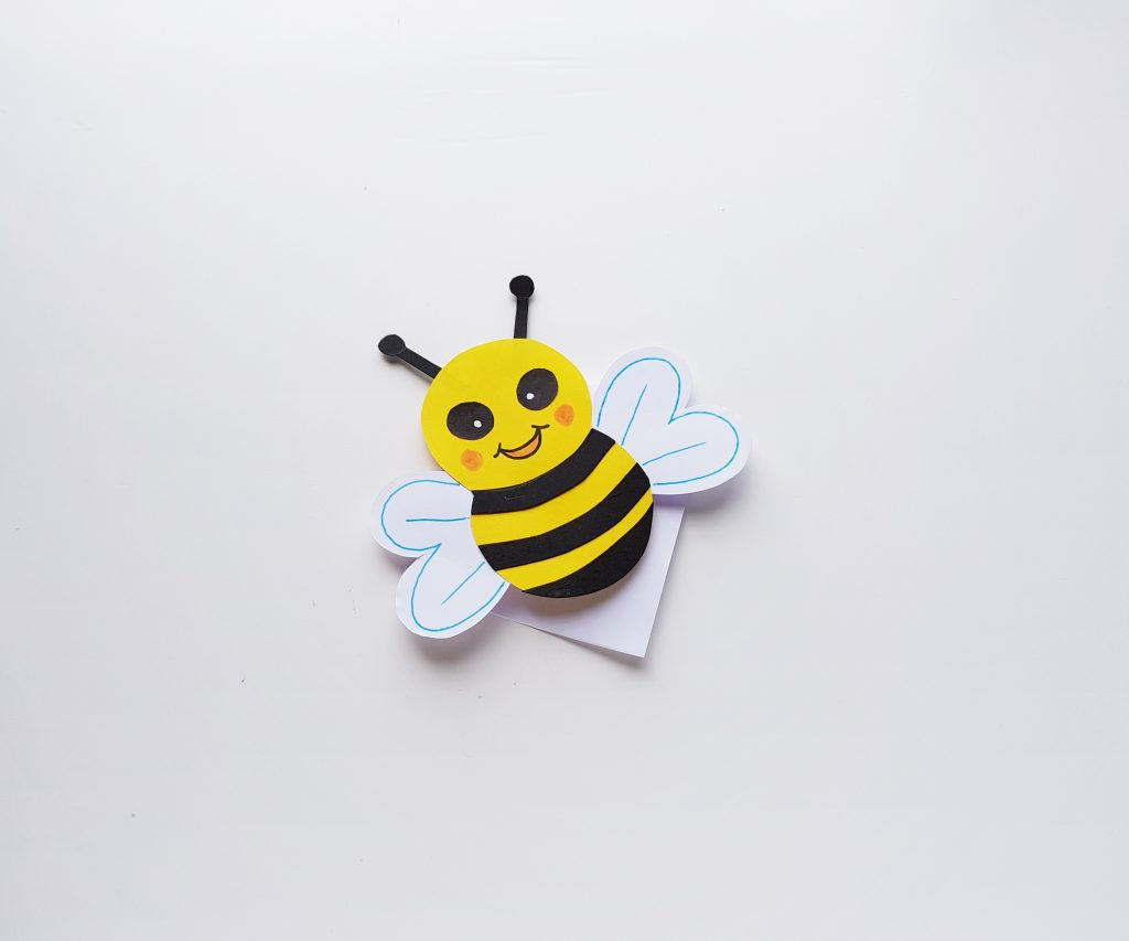 Bee Corner Bookmark Paper Craft for Kids