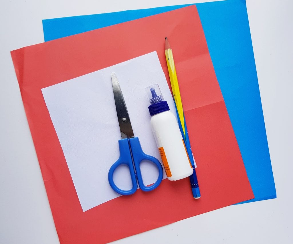 list of supplies for 4th of july craft step