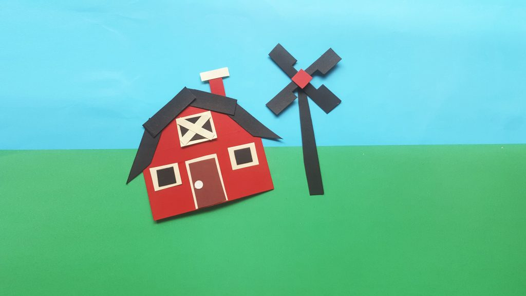 Paper Farm House Craft For Kids