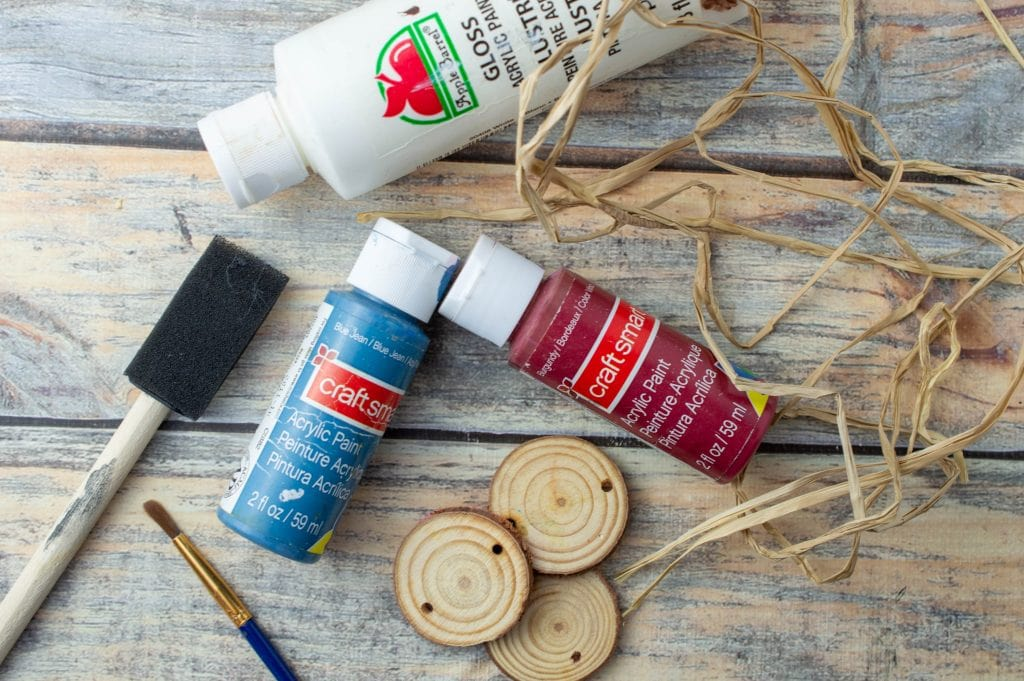 supplies for wood craft idea for kids