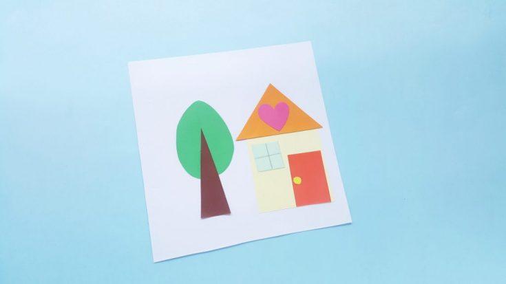 Shape House Toddler Craft Idea