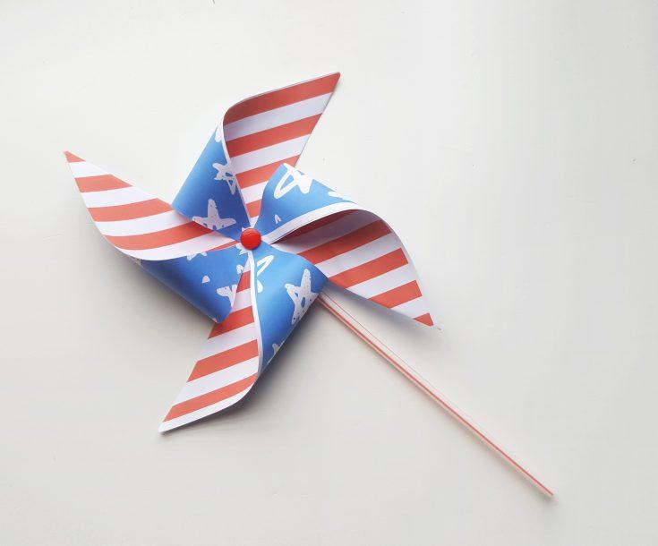 4th of July Pinwheel Craft Idea