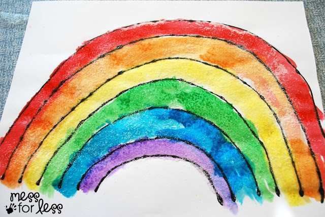 watercolor rainbow