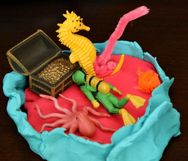 coral reef playdough