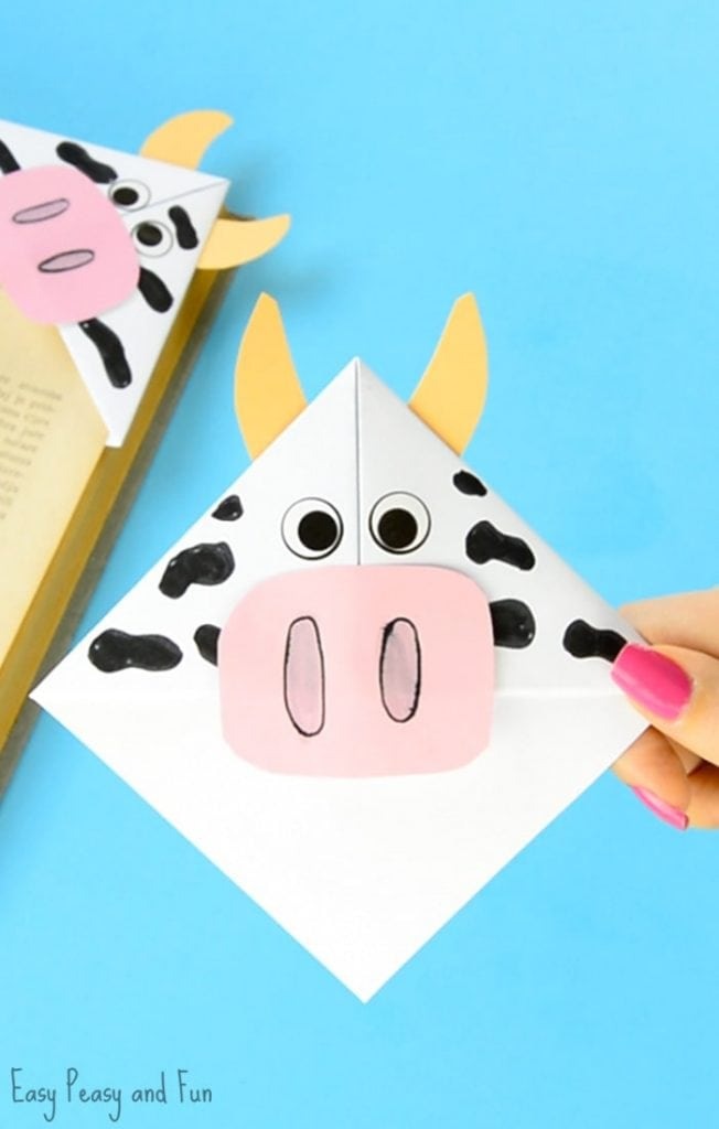 cow corner bookmark