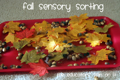 fall sensory sorting