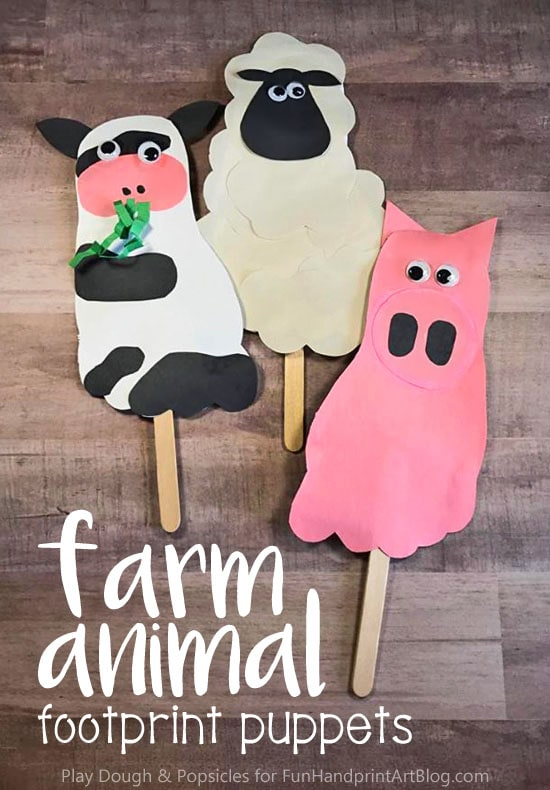 footprint animal puppet
