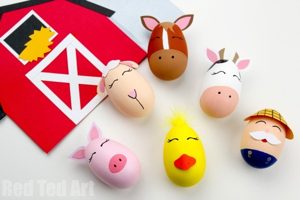 farm decorated eggs farming activities for kids