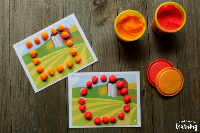 playdough mats farming activities for kids