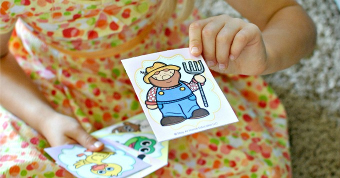 old maid card game farming activities for kids