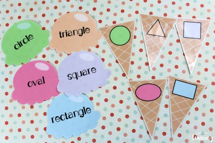 ice cream shape sorting