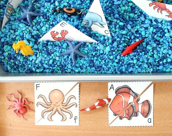 ocean letter matching activity