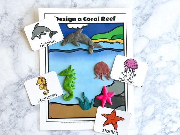 ocean playdough mat