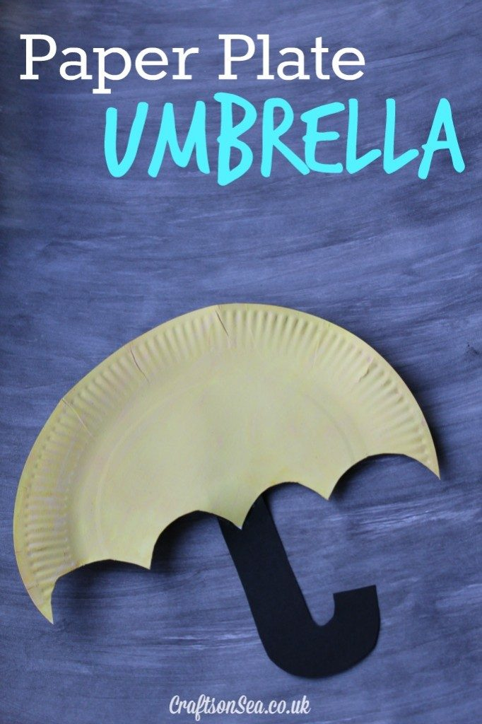 paper plate umbrella spring crafts for toddlers