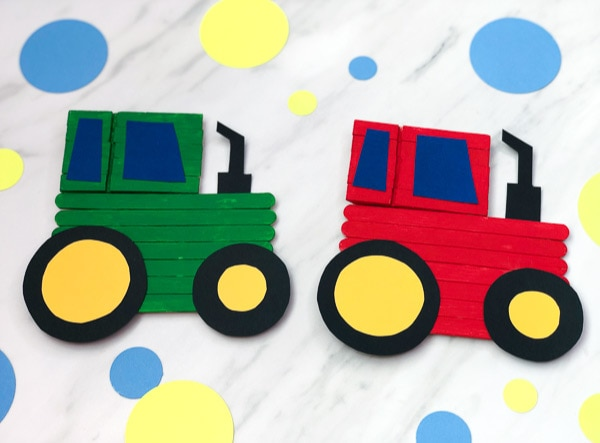 popsicle tractor craft