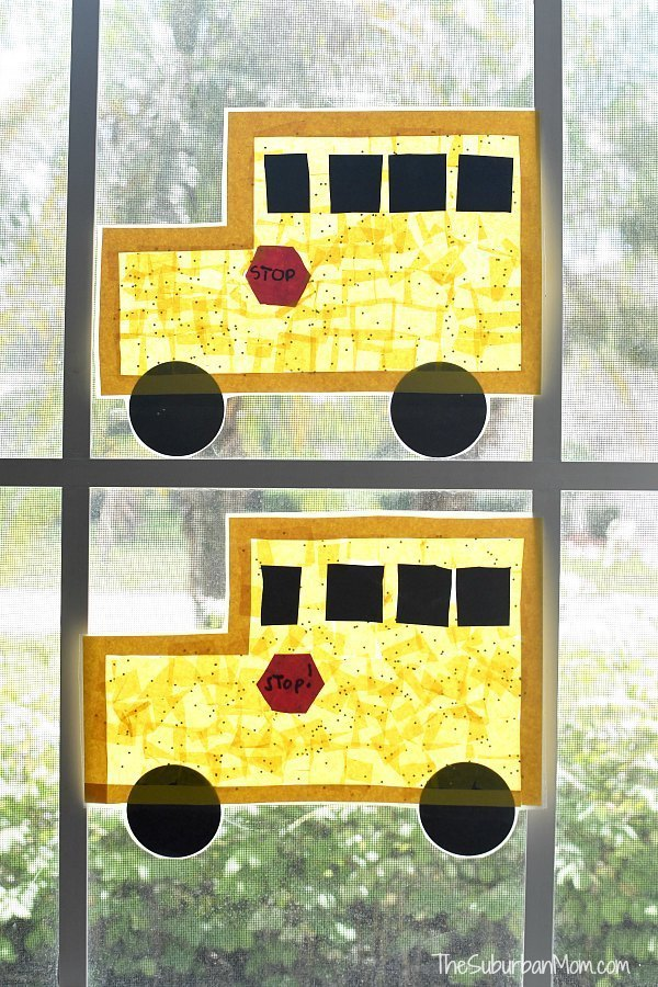 school bus sun catcher transportation activities