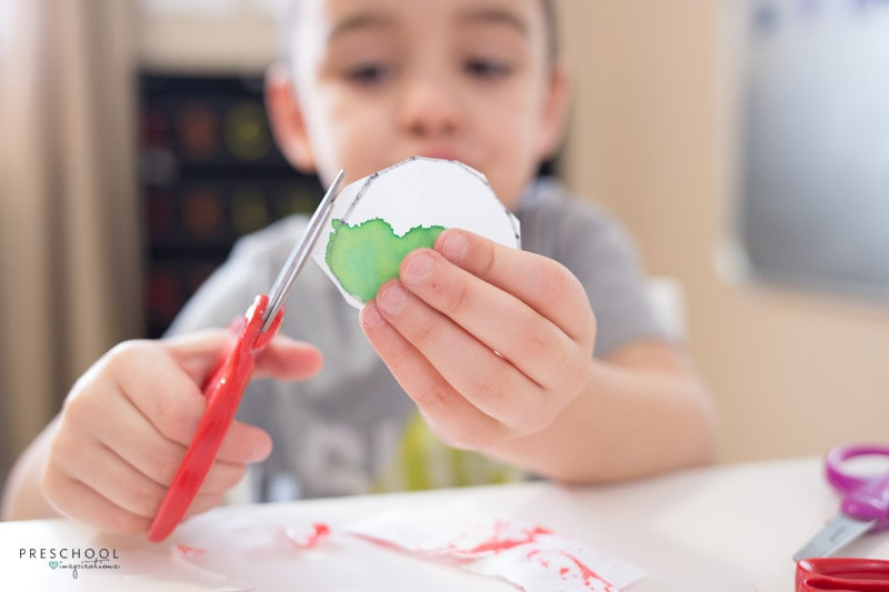 scissors skills practise