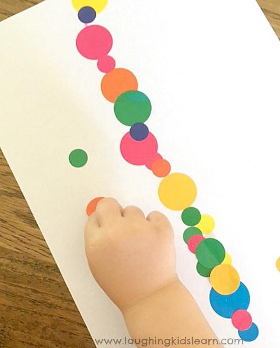 sticker activity for kids