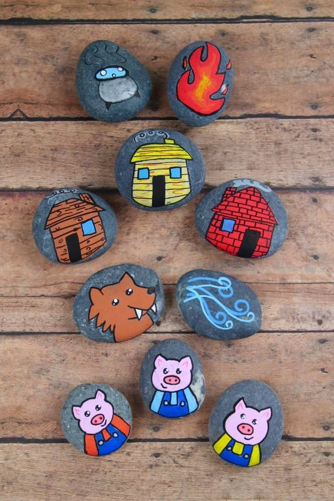 three little pigs stone farming activities for kids