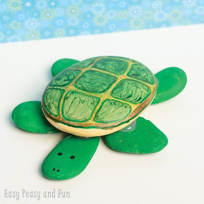 rock painted turtle ocean activities for kids