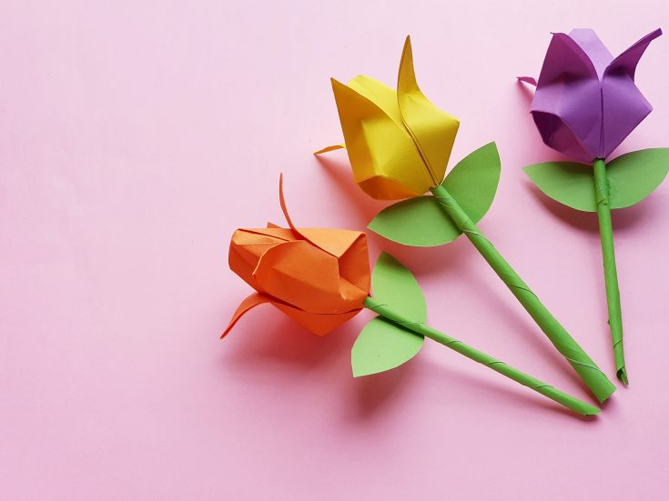 Origami Paper Tulip Craft