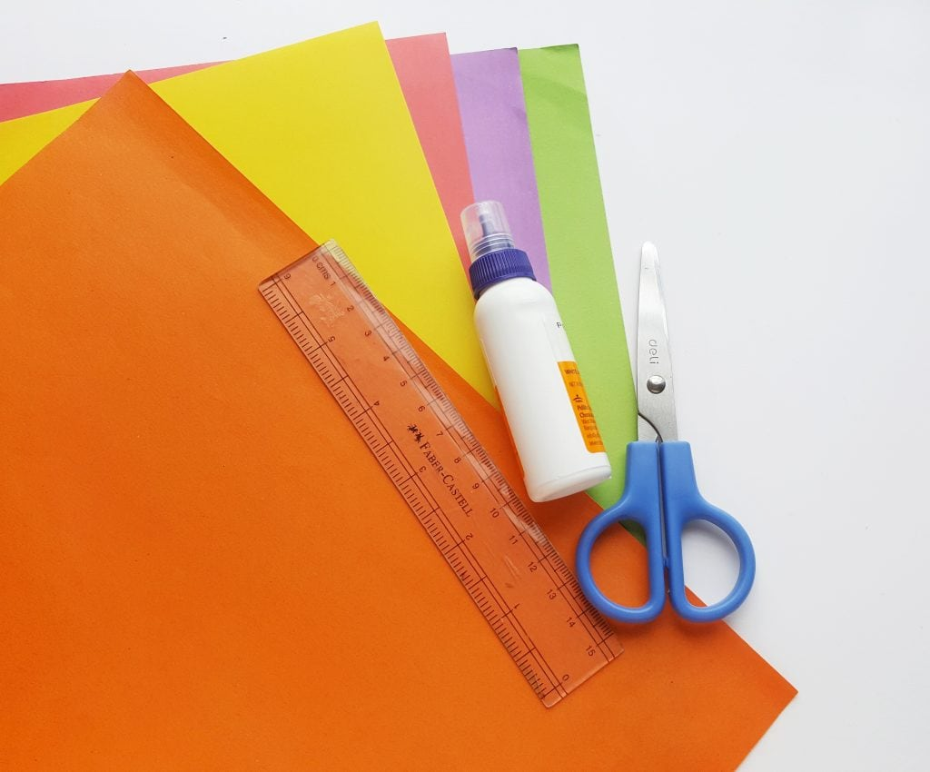 supplies list origami paper tulip