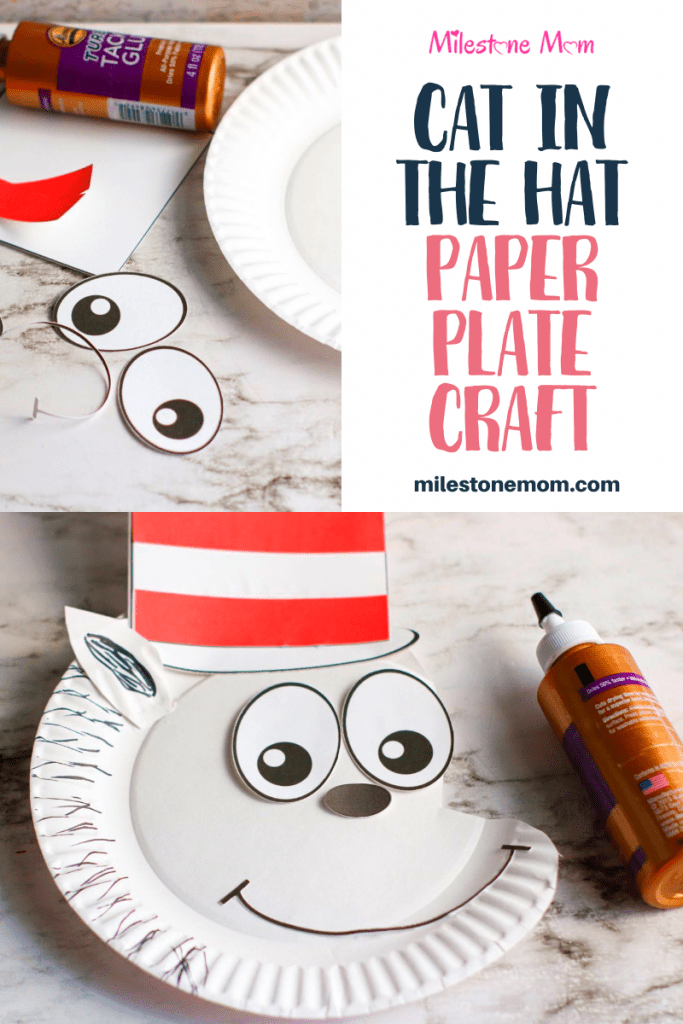 Cat in the Hat Paper Plate Craft Pin