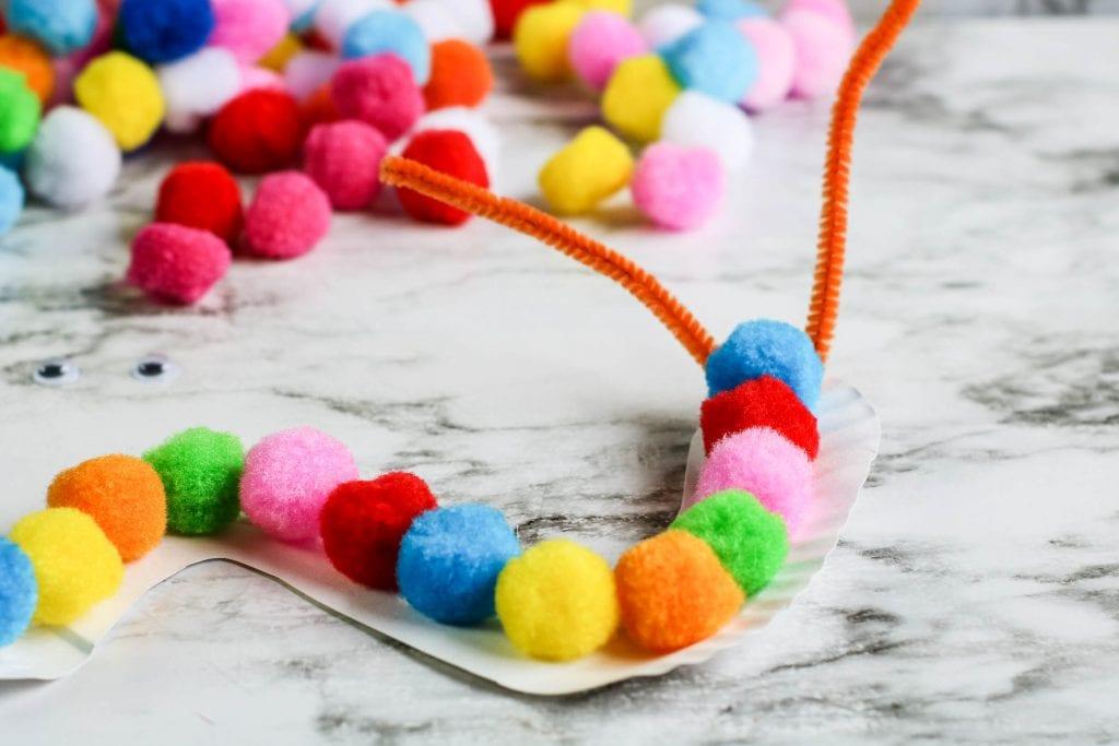Pom pom and fuzzy wire craft