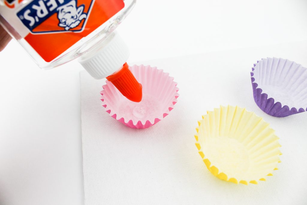 Glue Muffin Cups