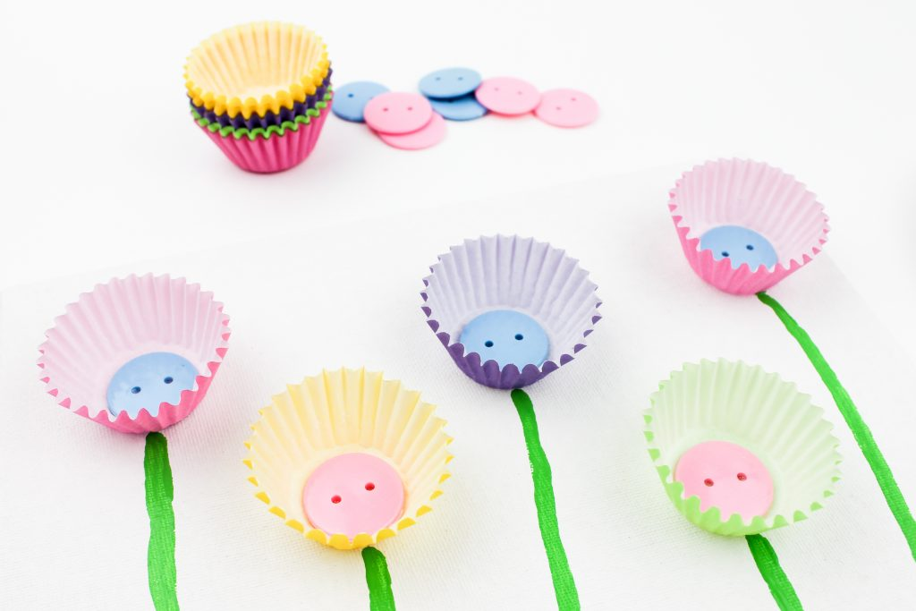 Muffin Cup Flower Craft