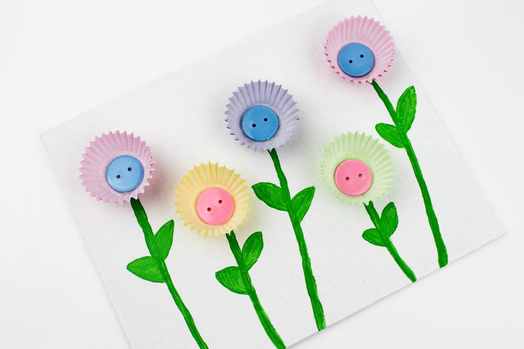 Muffin Cup Flowers