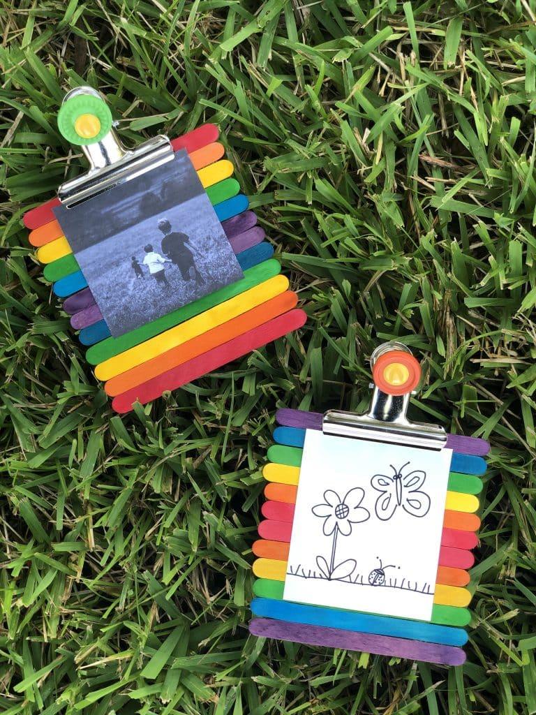 Rainbow Popsicle Stick Frame