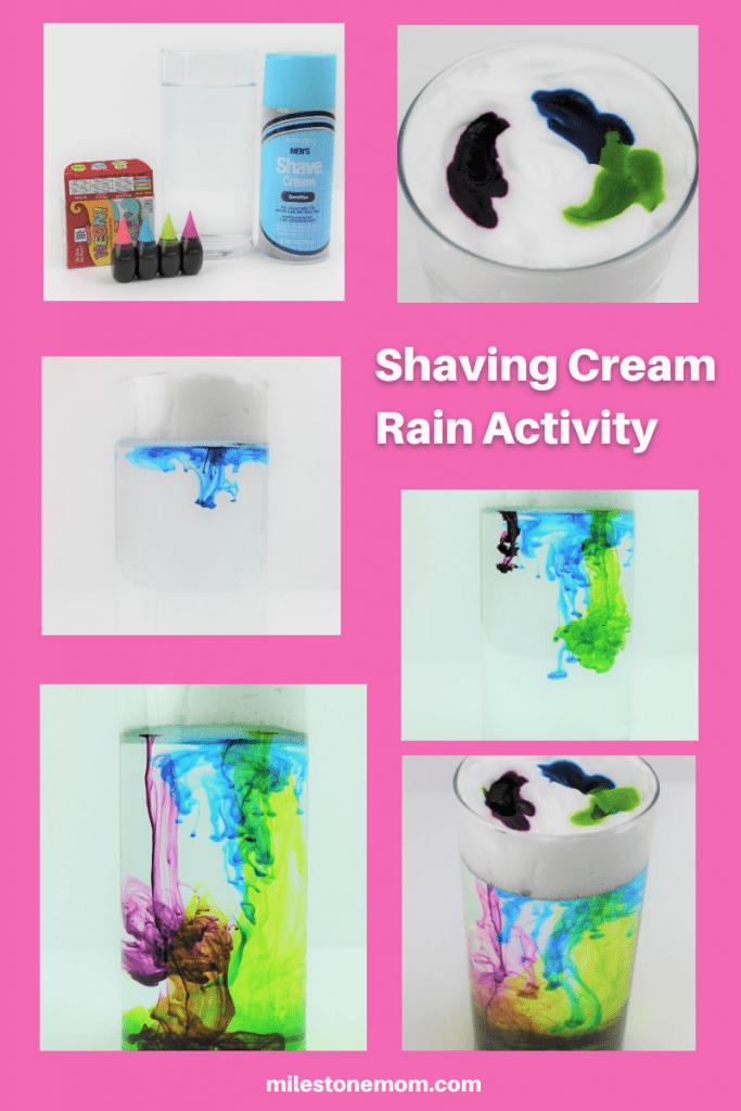 Shaving Cream Rain Activity