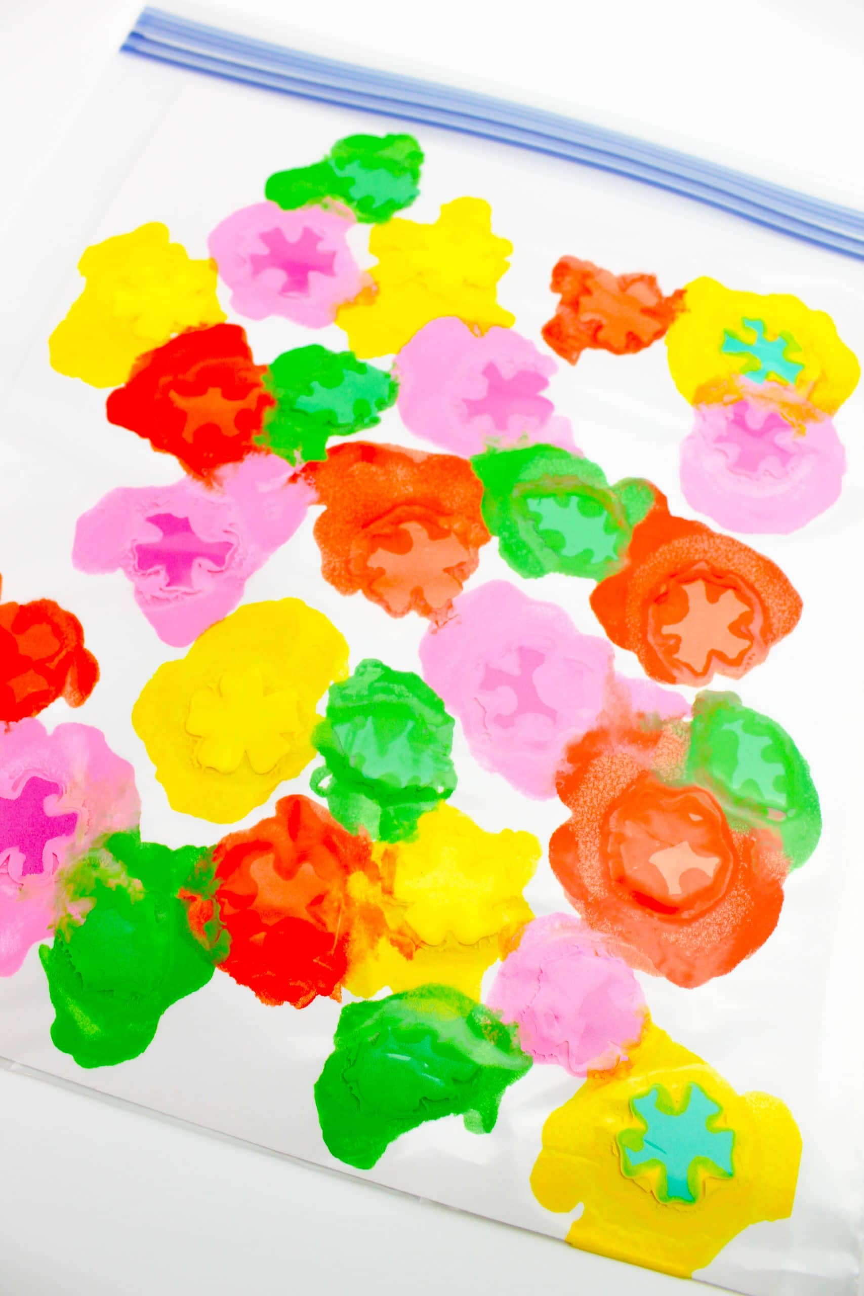 Mess Free Flower Bag Painting