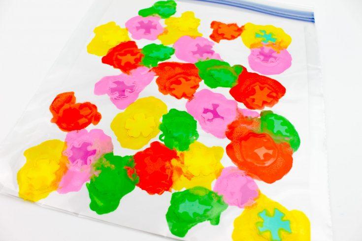 Foam Flowers Paint Squish Bag