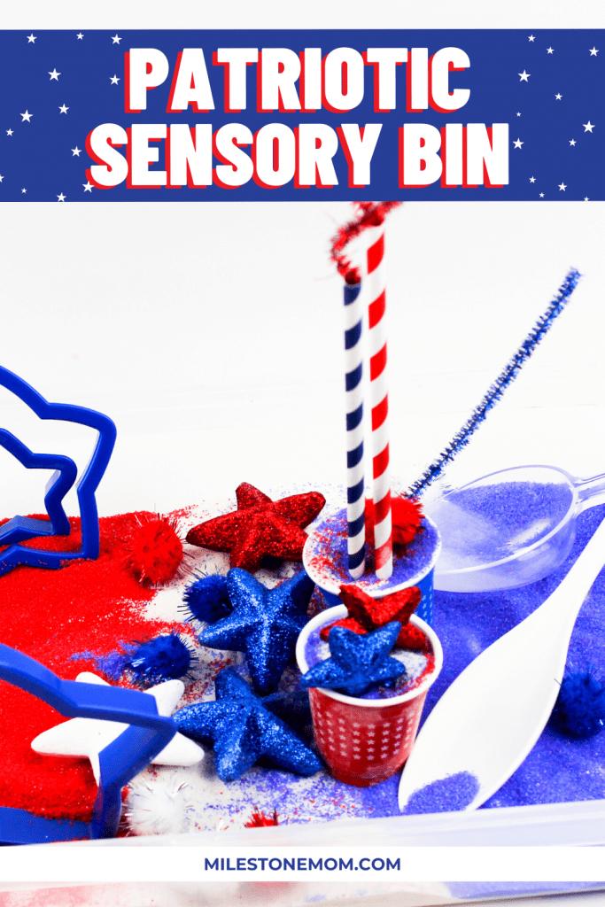 Milestone Mom - Patriotic Sensory Bin