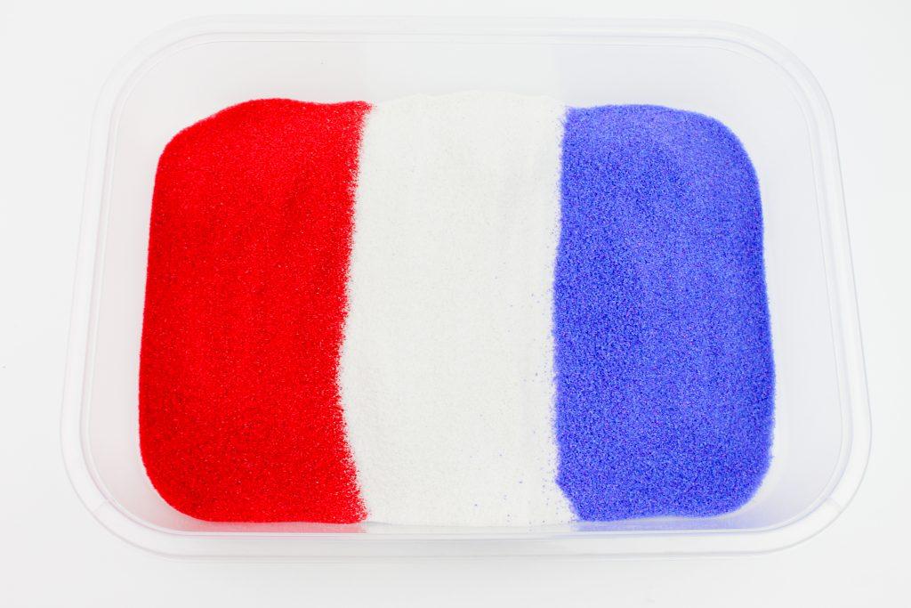 Patriotic Sensory Bin Sand