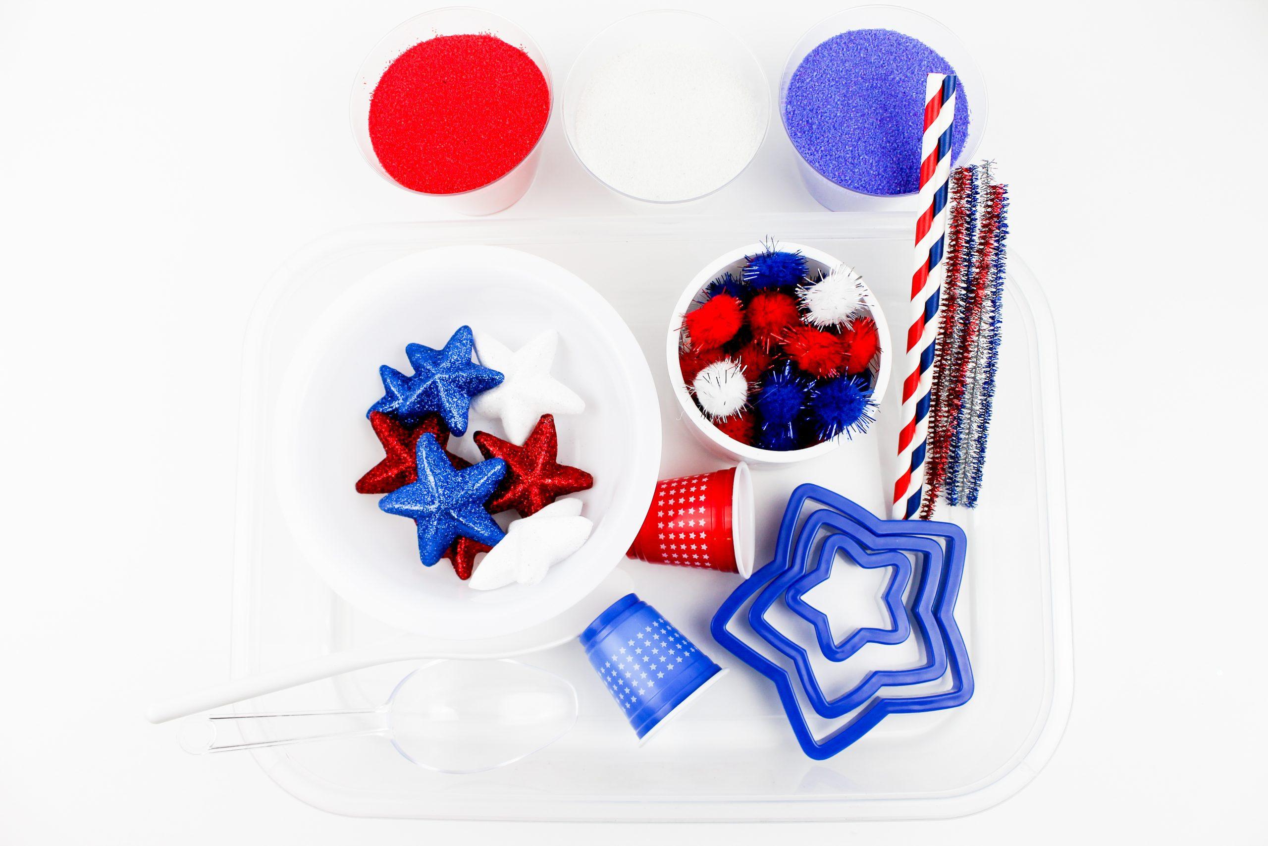 Patriotic Sensory Bin Supplies